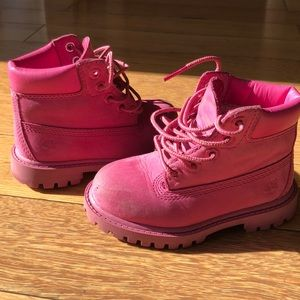 Toddler Pink Timberlands